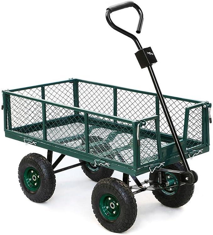 yaheetech caja de acero Wagon Garden carrito remolque Patio jardín Patio 800 kg Capacidad de carga: Amazon.es: Jardín