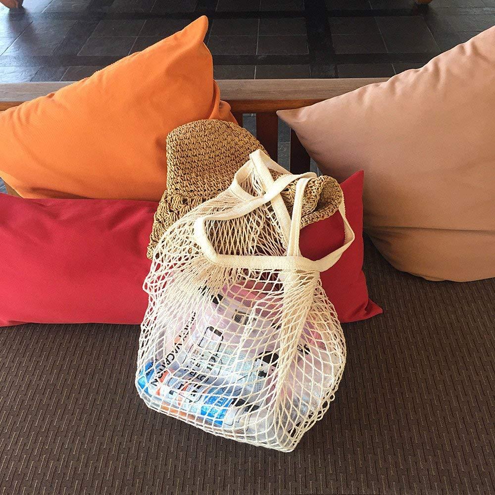 5 PCS Bolsas de La Compra Reutilizables para Almacenamiento Fruta Verduras Juguetes Lavable KESOVI Reutilizables Ecol/ógicas Bolsa de Malla 5 Colores Algod/ón Bolsa