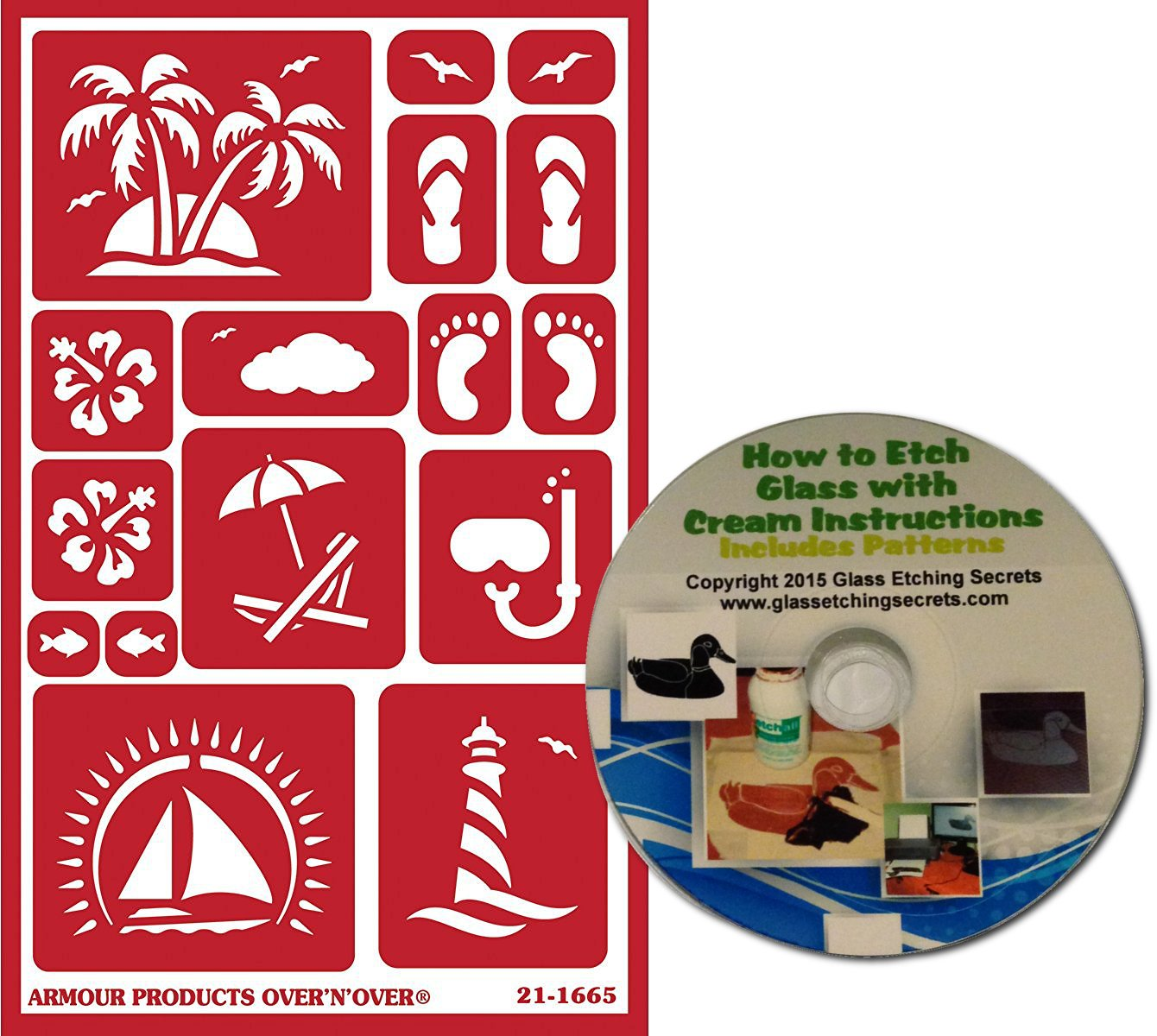 amazon com tropical beach stencils reusable with palm trees
