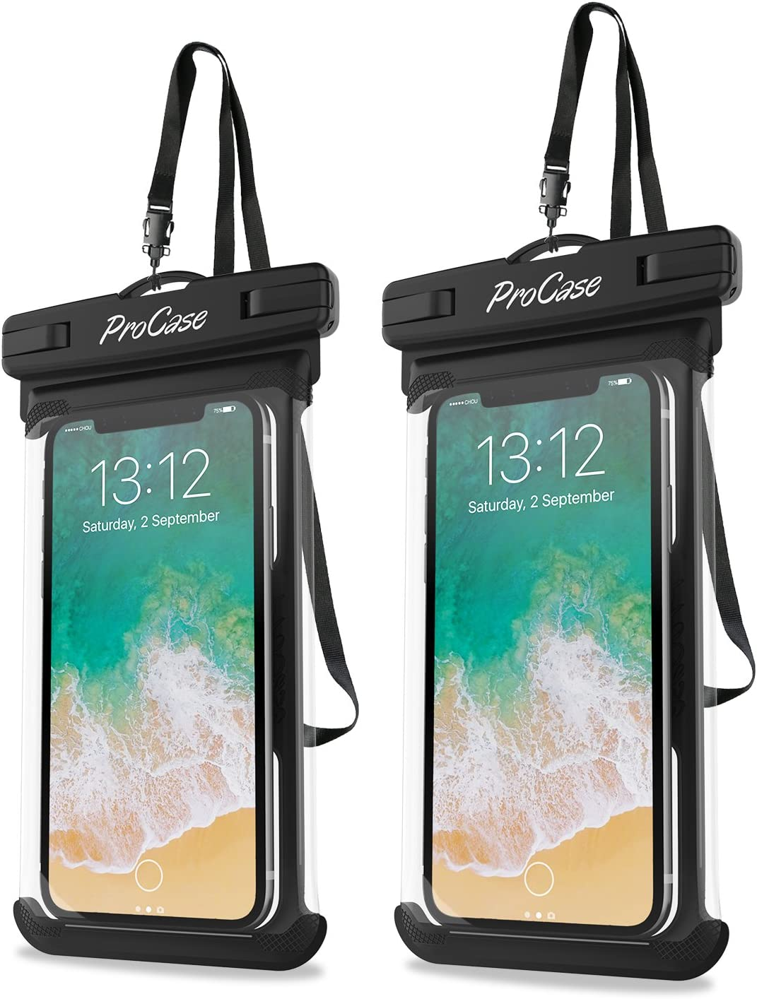 ProCase Bolsa Estanca Universal para iPhone SE 2020/iPhone 11 Pro Max/XR/6S Plus, SE, Galaxy S20 Ultra/S10/J7, Huawei P20/P9/P8 Lite, Xiaomi A1/Redmi Note 5, hasta 6,9