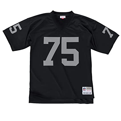 937591ca Howie Long Oakland Raiders Black Mitchell & Ness Throwback Jersey Small