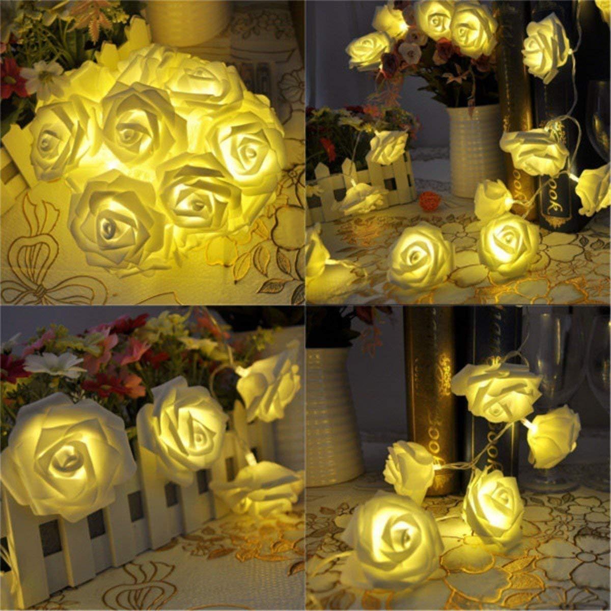 Citra 28 Led String Strip Light Rose Flower Shape Diwali Light for Decoration 28Led- Warm White