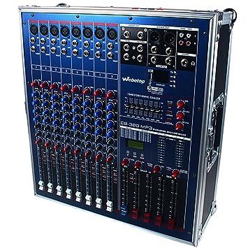 Webetop CB-380 8 canales 1200 Watts 16 DSP profesional amplificador mezclador con USB y