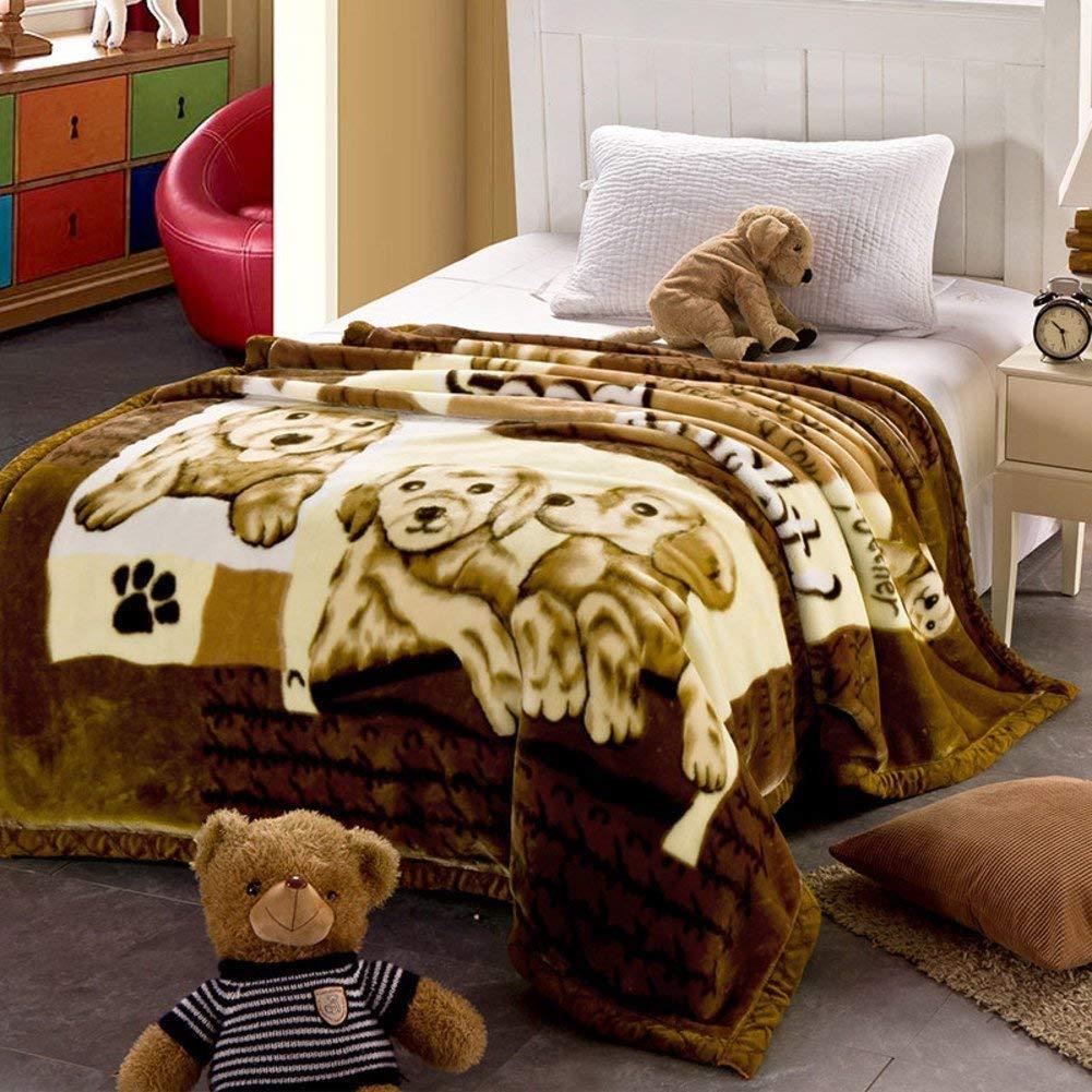 Yunyilian ベッドの裏地の冬の厚くされたフランネルの綿毛布、暖かい単一の二重タオルのキルト毛布 (Color : 150*200cm(59x79inch), サイズ : R) B07QMDY6L3 150*200cm(59x79inch) R