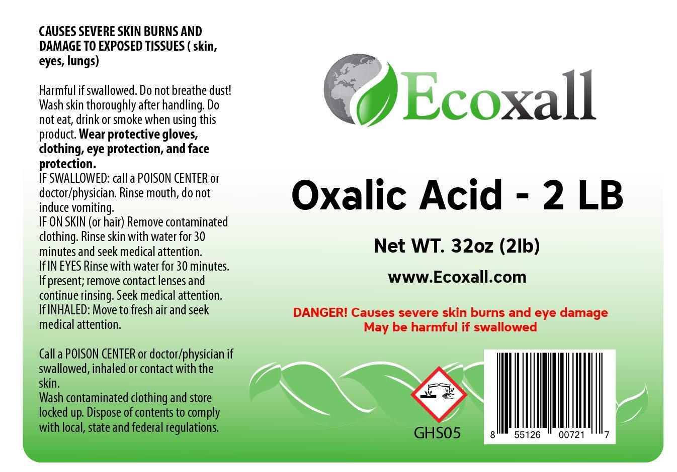 Amazon.com: Ácido oxálico 2 lb Elimina el óxido de 100 ...