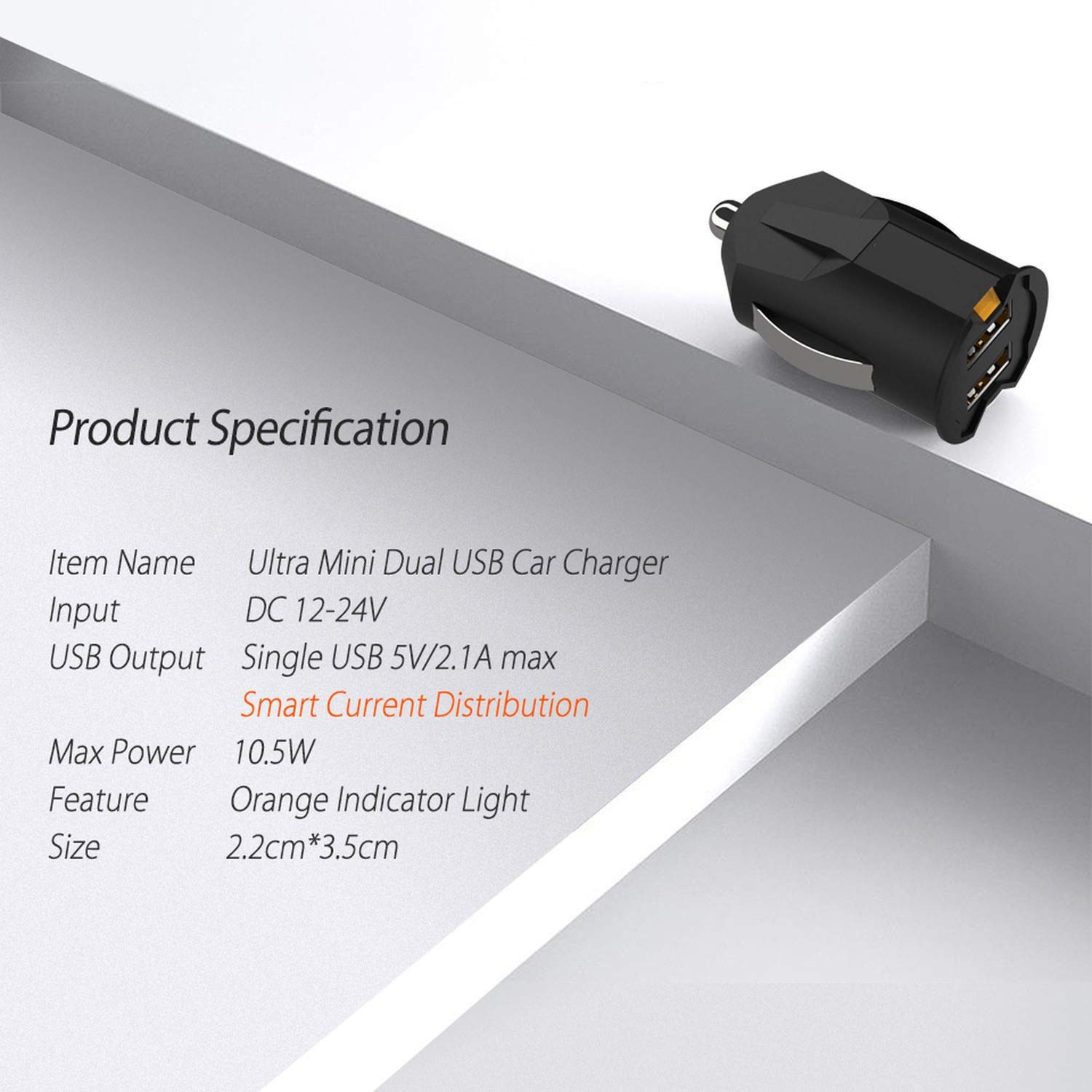 Amazon.com: Smallest Mini USB Car Charger Adapter 2A Car USB ...