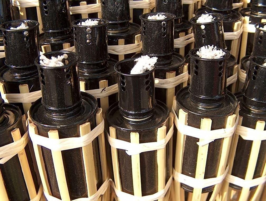 iapyx - Antorchas de jardín (18 x 60 cm, bambú, para lámparas de aceite): Amazon.es: Jardín