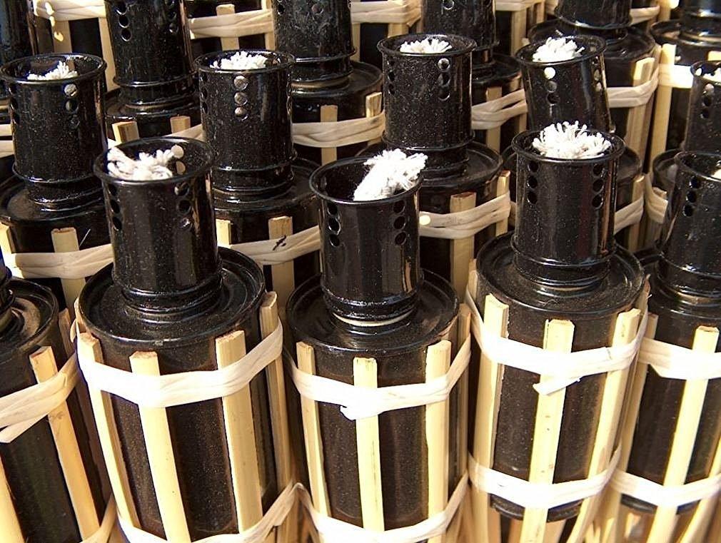 Antorchas de jardín bambú
