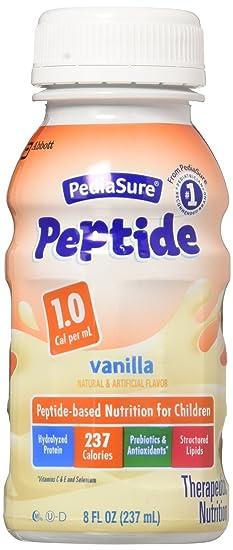 pediasure peptide 1 0 vanilla bottles 24 x 8oz case amazon com grocery gourmet food