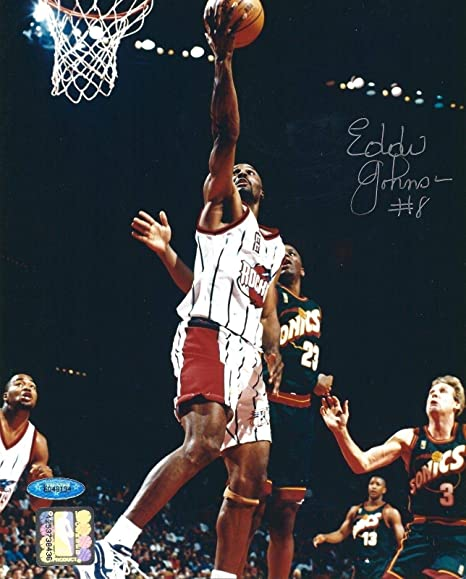 babb7a87554c8 Autographed Eddie Johnson (Small Forward) Photo - 8x10 6048194 ...
