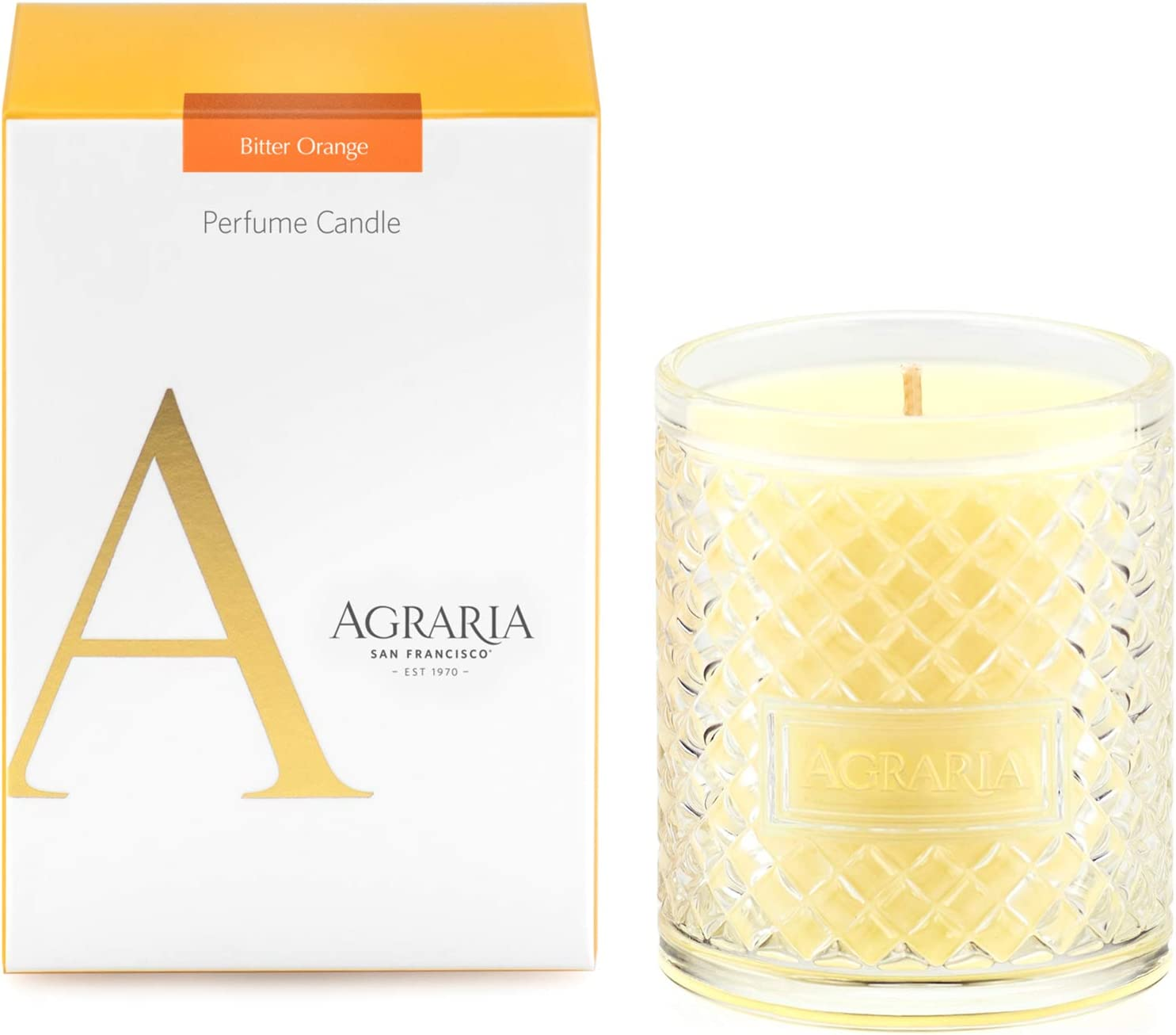 AGRARIA Bitter Orange Scented 7oz Perfume Candle - Premium Soy-Based Wax
