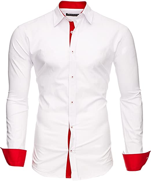 Kayhan Hombre Camisa Manga Larga Slim Fit S-6XL - Modello Twoface + London: Amazon.es: Ropa y accesorios