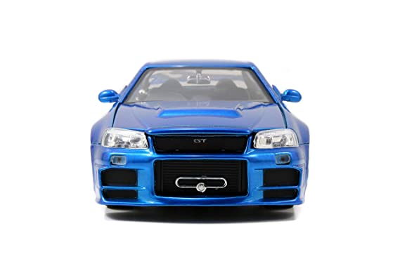 Jada - Coche de Brian de Fast & Furious a Escala 1:24, Nissan Skyline GT-R (R34) - JA97173: Amazon.es: Juguetes y juegos
