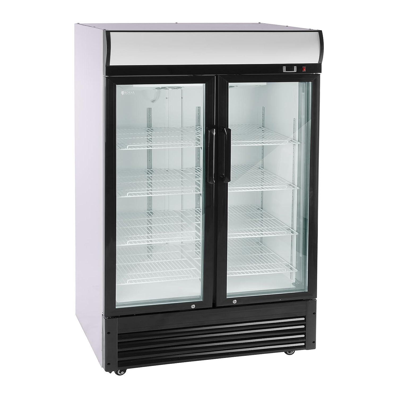 Royal Catering Flaschenkühlschrank Getränkekühlschrank mit Glastür ...