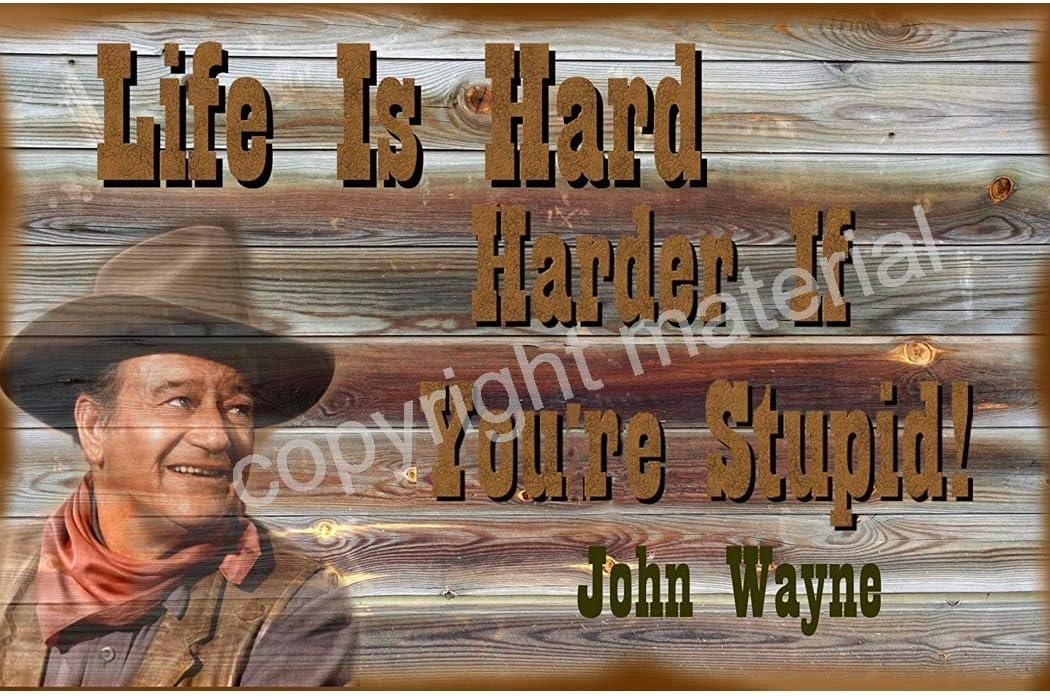 Life is Hard 24x36 inch rolled wall poster John Wayne
