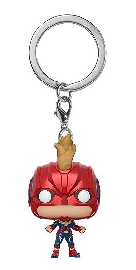 Funko 36439 - Llavero de Bolsillo con diseño de Capitán Marvel: Pop 2