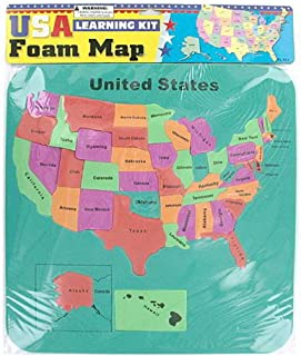 FindingKing 48 USA map de mousse