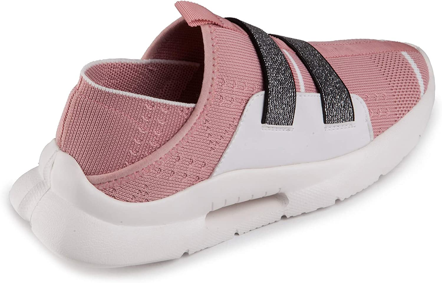 Baldi Women's Spook Navy/Pink Athletic Sport Shoes Casual Comfy Sport Slip on Sneakers wear with Jeans, Shorts, Skirts Pink