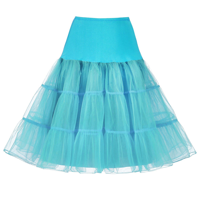 Izanoy 50er Jahre Petticoat Vintage Retro Reifrock Petticoat Unterrock für Wedding bridal Petticoat Rockabilly Kleid