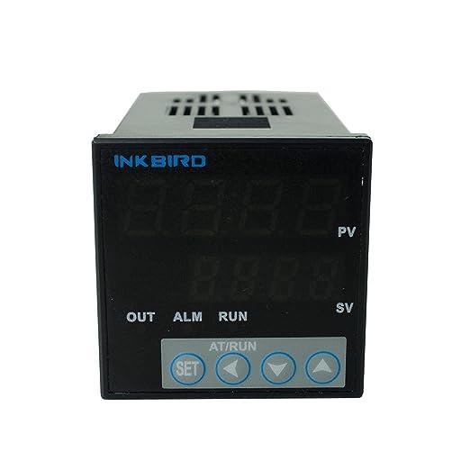 Inkbird ITC-106VH PID Termostato Digital + PT100 Sonda, 220V Doble Relés Controlador Temperatura Enfriamiento&Calefaccion para Termometro, Acuarios, ...