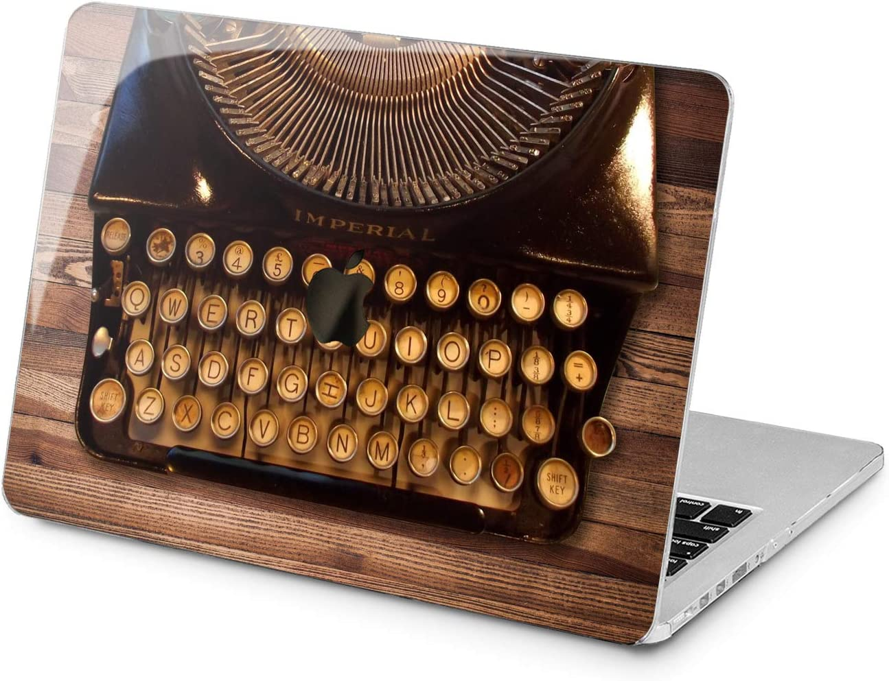 """Cavka Hard Shell Case for Apple MacBook Pro 13"""" 2019 15"""" 2018 Air 13"""" 2020 Retina 2015 Mac 11"""" Mac 12"""" Print Texture Stylish Brown Protective Book Cover Laptop Vintage Classy Cover Plastic Design"""