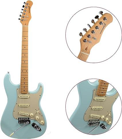 Rocket Music EGV44BL - Guitarra eléctrica (pastillas magnéticas de ...