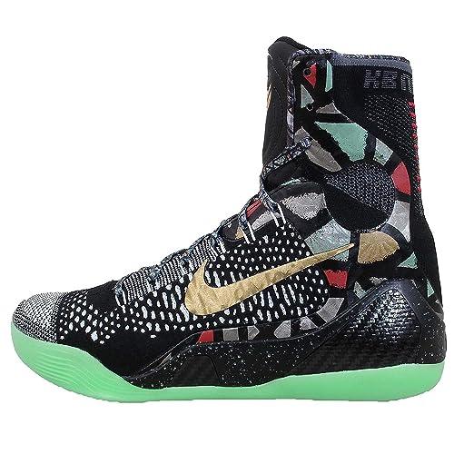 size 40 e5a5d 75eac Nike Men s Kobe 9 Elite Gumbo League Basketball Shoes - 630847 002,  Black Metallic Gold-White - Size 10.5 D(M) US  Amazon.co.uk  Shoes   Bags