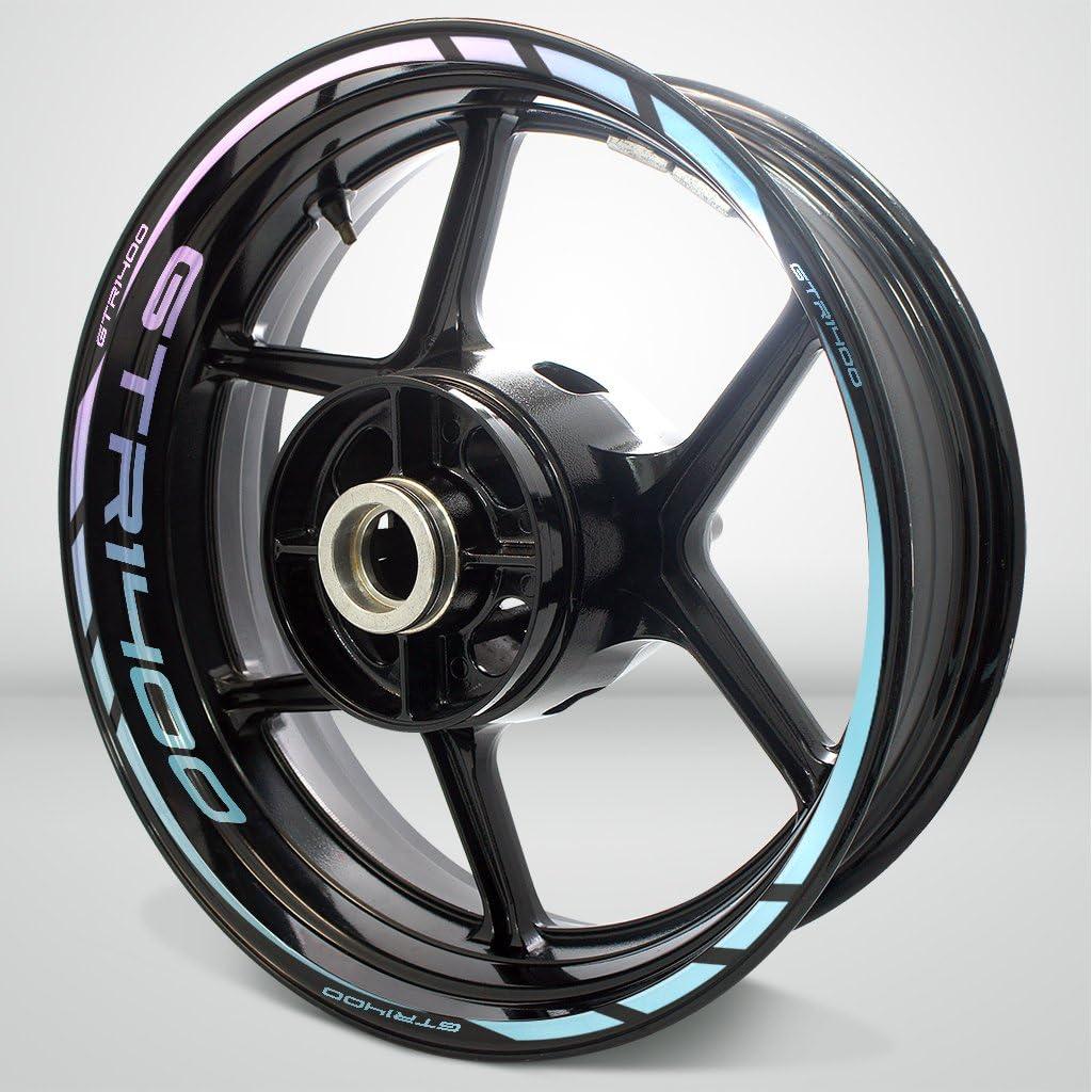 2 Tone Amethyst Motorcycle Rim Wheel Decal Accessory Sticker for Kawasaki GTR 1400