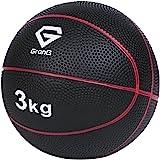 GronG(グロング) メディシンボール 3kg 5kg トレーニングマニュアル付き(島袋好一トレーナー監修) 非バウンドタイプ