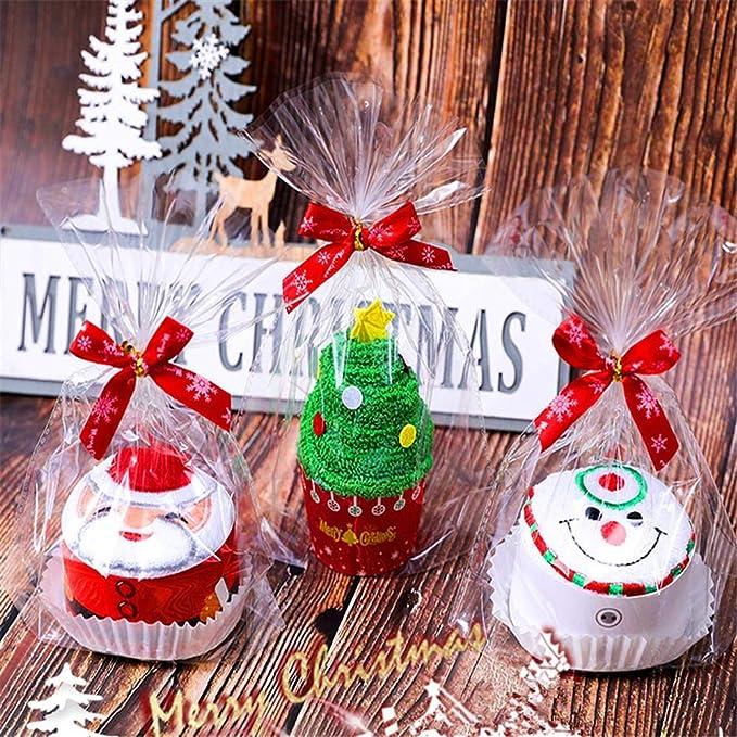 Jspoir Melodiz Toalla de algodón, diseño de Papá Noel, árbol de Navidad, muñeco de Nieve, Toalla de algodón, Creativo: Amazon.es: Hogar