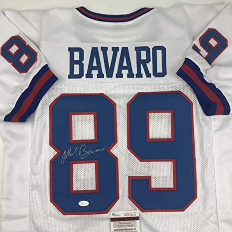 cb12cabd6d0 Image Unavailable. Image not available for. Color: Mark Bavaro Autographed  Jersey - White COA - JSA ...