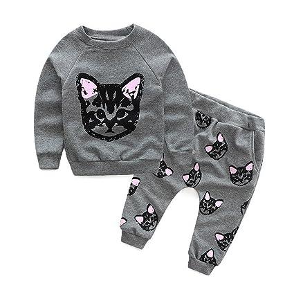 Feixiang Ropa de bebé niño niña bebé niña suéter Traje ...