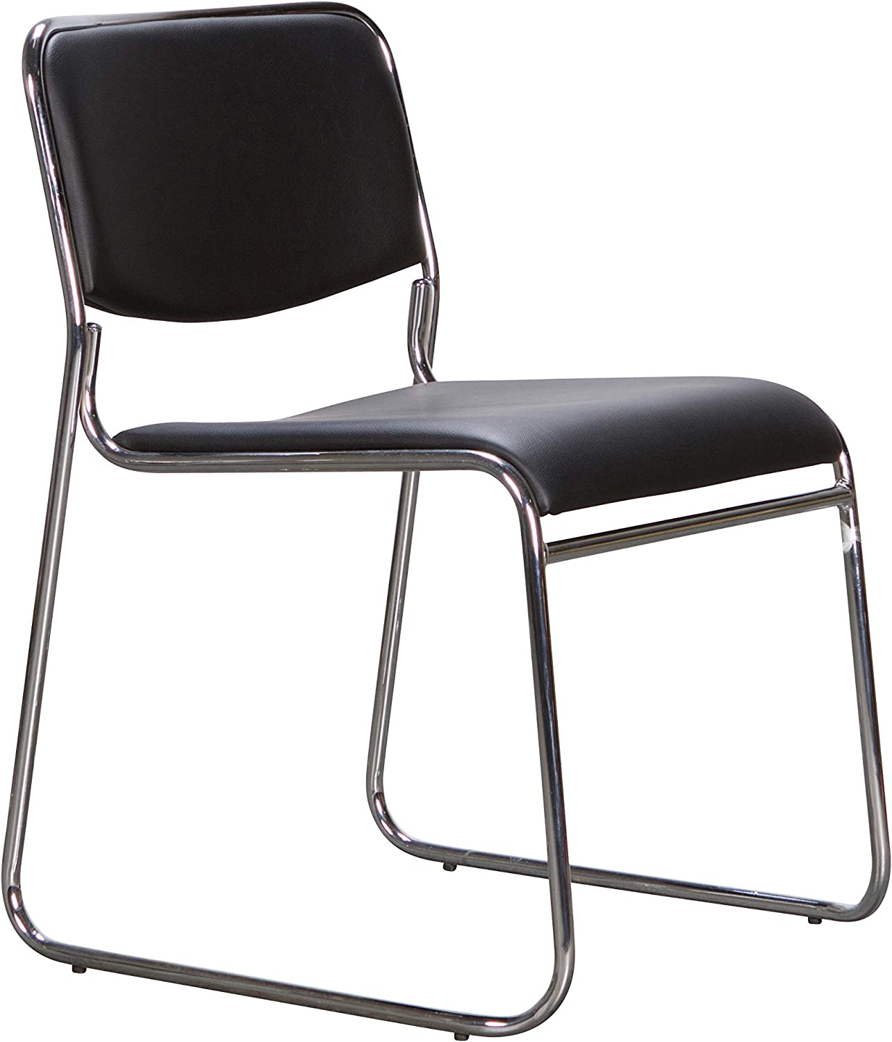 Linon Home Decor Products Linon Black Upholstered Back and Seat (Set of 2) Chase Metal Modern Dining Chair