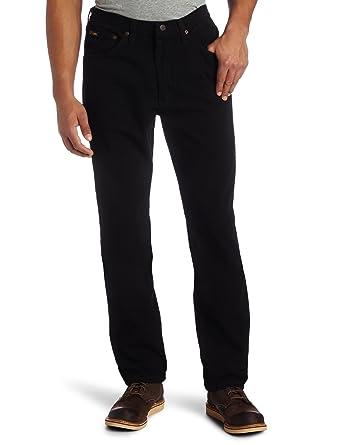 Lee Mens Regular Fit Straight Leg Jean, Double Black, 30W x 32L