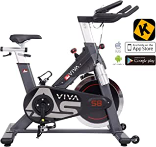 AsVIVA Unisex - Adultos Indoor Cycle & Speedbike S8 Pro App ...