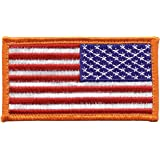 Rothco Reverse American Flag Patch with Hook Back