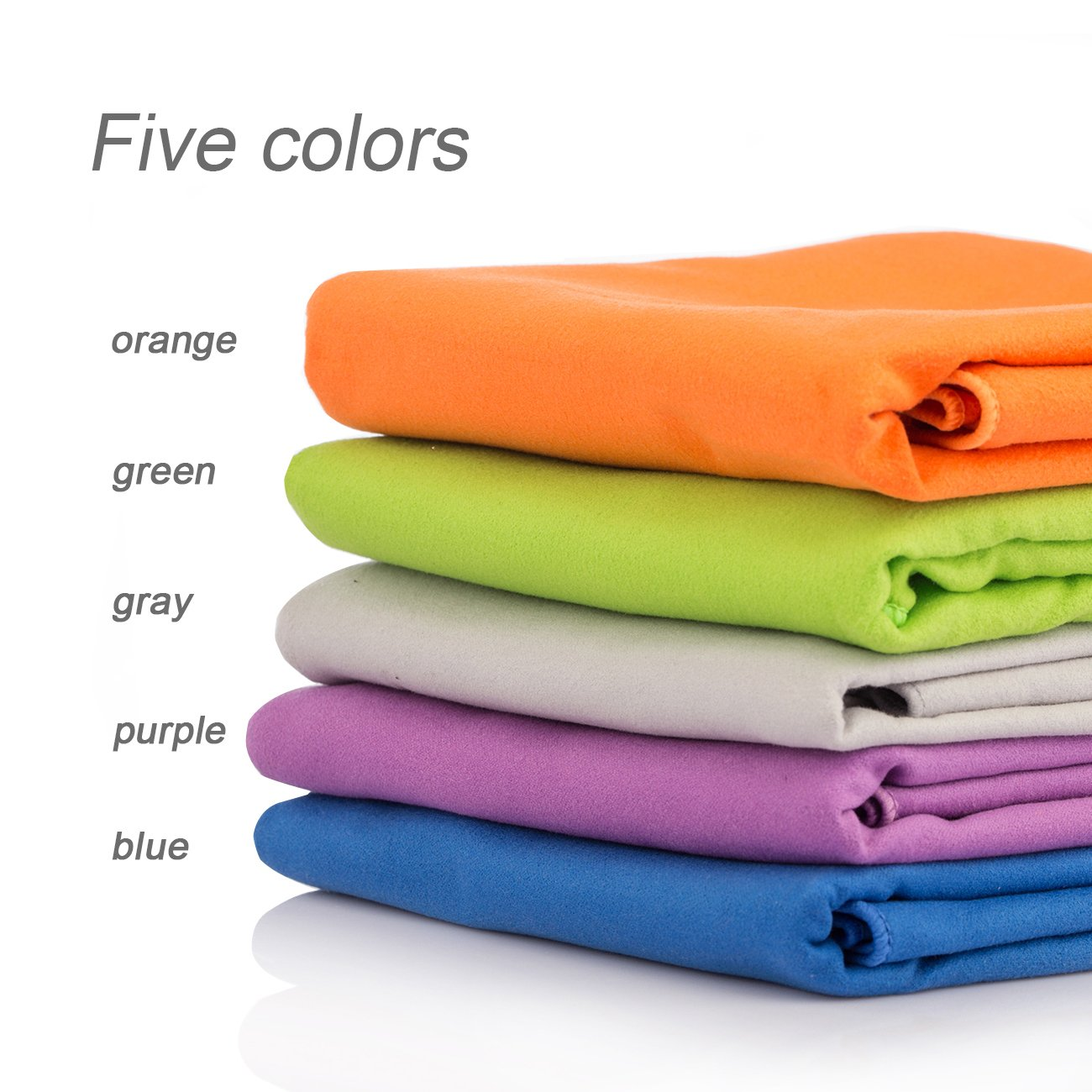 Overmont Microfiber Beach Towels 43x20inches Quick Dry Super Absorbent Compact Perfect Fast Drying Bath Towels for Swimming Gym Yoga Camping Travels