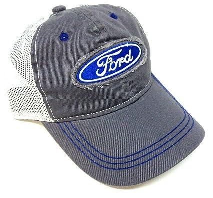 Gorra de Camionero Ajustable de Malla Gris y Blanco con Logo de ...