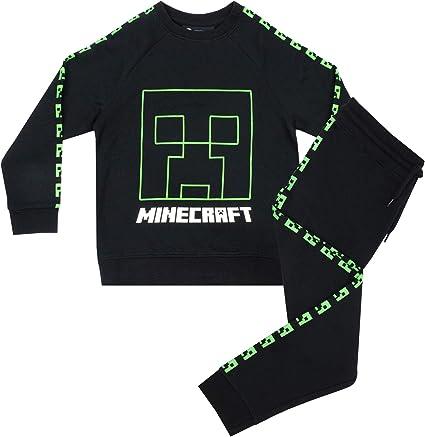 Chándal Minecraft Creeper Inside Boys con Mangas largas y Mangas ...