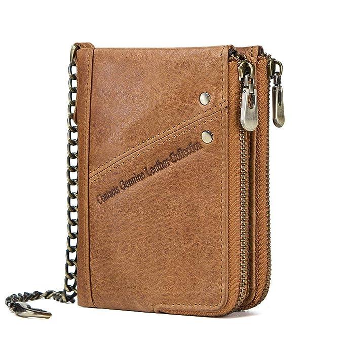Amazon.com: Monedero de bolsillo con cremallera y cierre de ...
