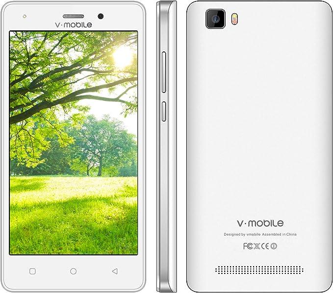 Moviles Libres Baratos 4G V mobile A10 8GB ROM Smartphone Baratos Libres 5 HD Android 7 Quad Core Cámara Doble 5MP 2MP Telefono Movil Libres Baratos Batería 2800mAh GPS Bluetooth WIFI (