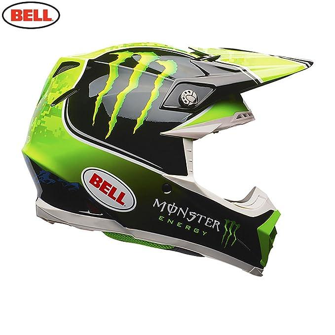 BELL Moto-9 Tomac réplica Casco de Motocross, Black Green, XL: Amazon.es: Deportes y aire libre