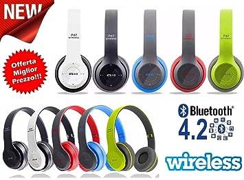 ® IDOR STORE ® Auriculares Bluetooth inalámbrico estéreo plegables con micrófono PC Smartphone inalámbrico sin hilos estéreo auriculares Sport Audio ...