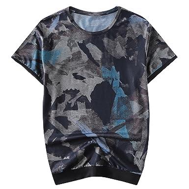 semen Homme T-Shirt Blouse Top Haut Manche Court Mode Confort Respirant  Lâche Imprimé Casual 844f6dfd929a