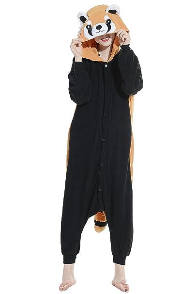 Mapache Cosplay Animales Pijamas Enteros Mujer Invierno Novedad Navidad Traje Disfraz