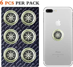 EMF Protection Sticker for Smartphone Keeping Sports Anti-Radiation Shield for Phone, Laptop, Tablet, Microwave, Kindle- Blocks Radiation Neutralizer- Fashionable Bumper Sticker(Silver 6PCS)