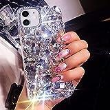 BONITEC for iPhone 11 Case 3D Glitter Sparkle Bling Case Luxury Shiny Crystal Rhinestone Diamond Bumper Clear Gems…