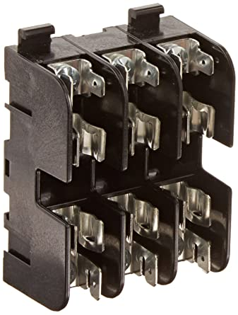 Mersen 20317 Class H and K Spring Reinforced Fuse Block with Screw Connector 30 Ampere 2 Pole 10-14 Wire Range
