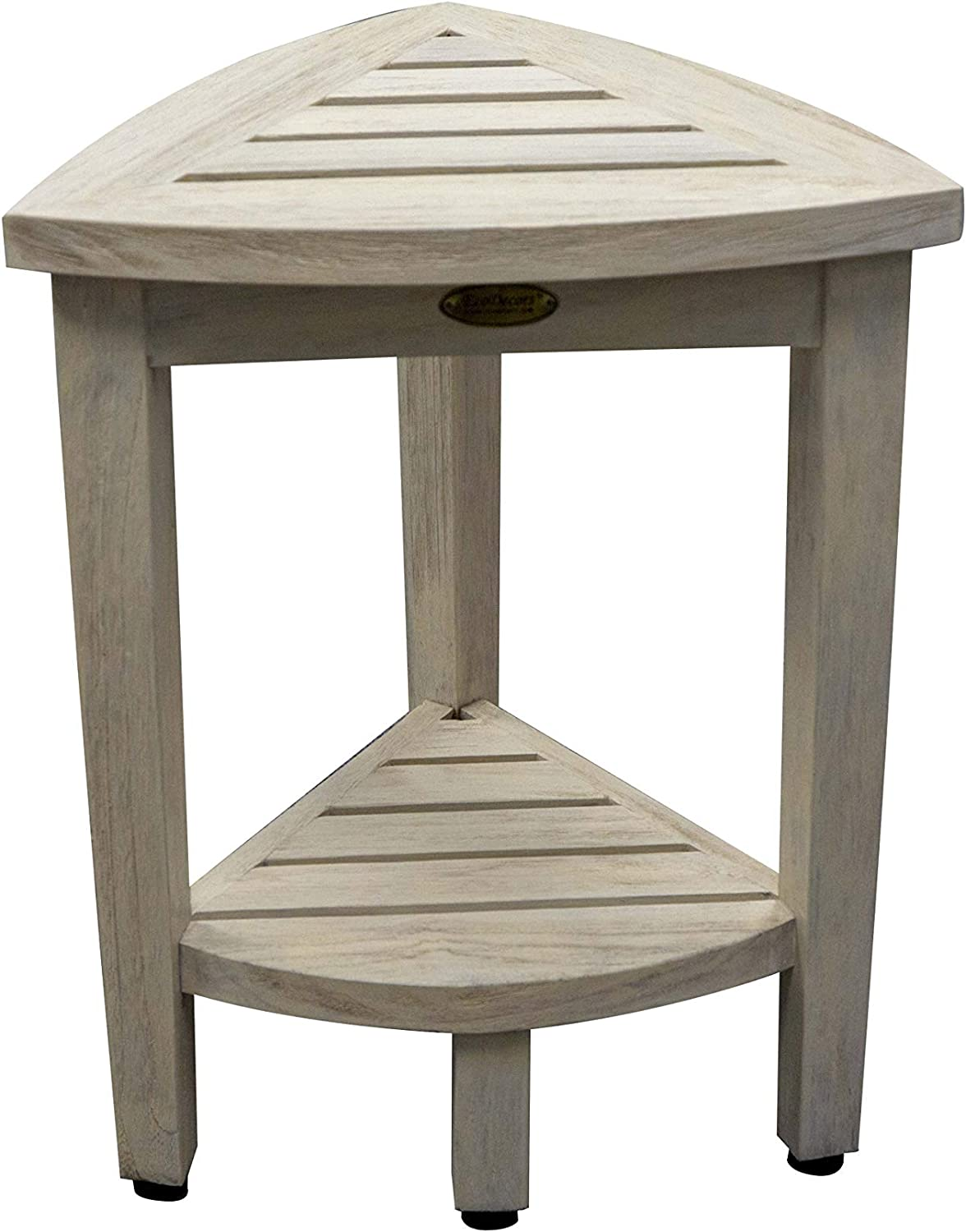 CoastalVogue Oasis Shower Stool, Driftwood