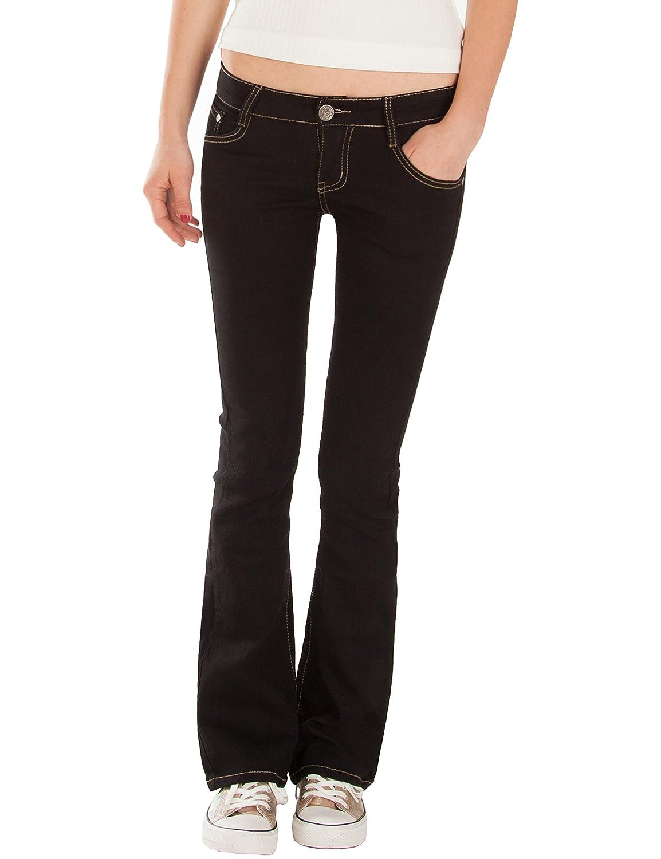 Fraternel Jeans donna bootcut stretch vita bassa H036